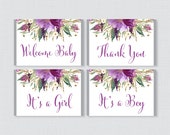 Purple Floral Baby Shower...