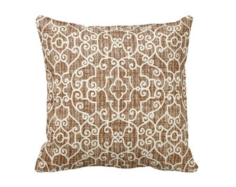 Brown Pillow Covers Brown Throw Pillow Covers Euro Pillows Toss Pillows Brown Pillowcase Accent Pillows Decorative Pillows Trellis Pillows