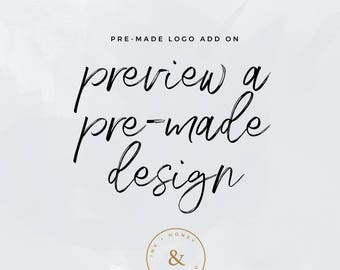 Premade Logo Add-on - Preview premade logo design