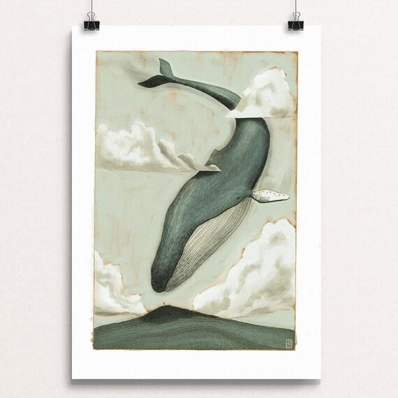 Sky Whale IV - Signed Print