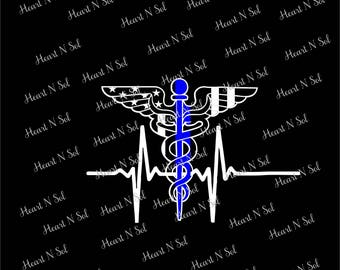 Medical, Thin Blue Line, Heartbeat, Back the badge, Police Wife, Doctor, Nurse, Vinyl decal, Car decal, Car sticker