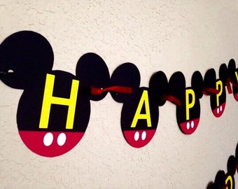 Mickey Mouse Birthday, Mickey Mouse Birthday Banner, Mickey Mouse Party, Mickey Mouse Birthday, Mickey Mouse Party Decorations