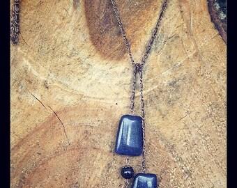 Majorelle tie necklace