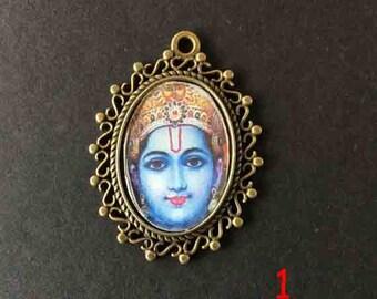 Indian amulet holder metal bronze 25x18mm