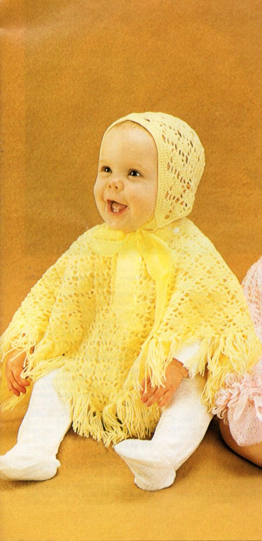 Baby Crochet Pattern Baby Crochet Poncho Baby Crochet Hat Crochet ...