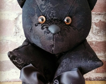 Black patterns deco bear Piece only Made in France decoration gift women men teens Teddy deco design