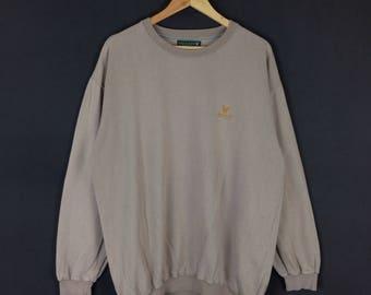 Lyle & Scott Embroidery logo sweatshirt jumper pullover nice design large size
