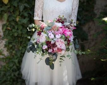 Romantic boho bouquet  Bridal flower bouquet Wedding bouquet Bridal bouquet Woodland bouquet Rustic bouquet Bridesmaid bouquet