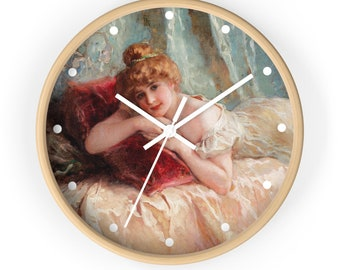 Perezosa Idle Woman By Daniel Hernndez Morillo, 10-Inch Wall Clock
