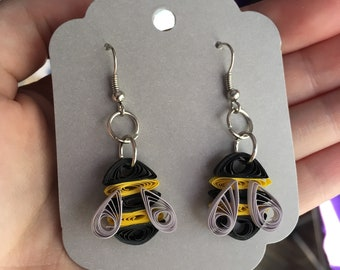 Quilled Bumble Bee Earrings