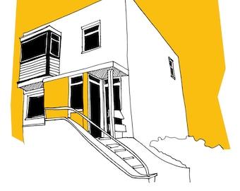 Custom House or Building Portrait