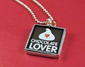 Chocolate Lovers Necklace Chocolate Kiss Charm