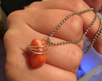Wire wrapped orange tumble