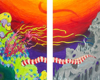 Tentacle Diptych