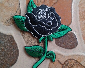 Black rose patch.