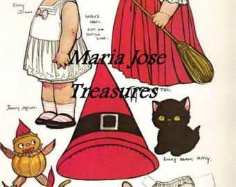 "Dolly Dingle ""Halloween"" Paper Dolls - Digital Download"