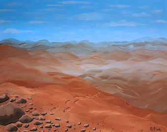 Nowhere Fast - an original acrylic painting on canvas by Flooko