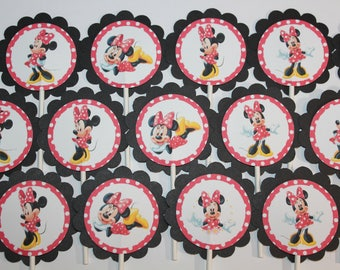 Minnie Mouse inspired Cupcake Toppers