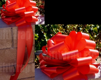 """Large Decorative Red Bow, Christmas Tree Topper, 13"""" Wide"""