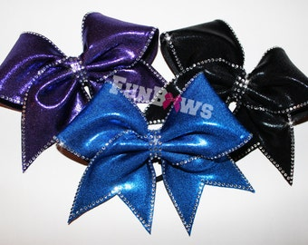 Classy and Glitzy Rhinestone Cheer bow by Funbows !