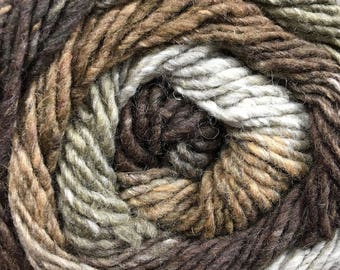 Melilla Silk Wool Nylon Yarn Bengal Brown colors 220 yards Worsted Weight Color 10
