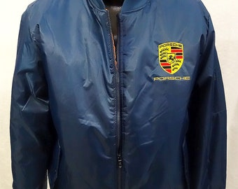Porsche Blue Poly Filled Jacket New W/Tags Size L & XL