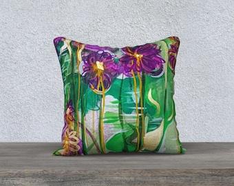 "Spring Flower Pillowcover 18"""