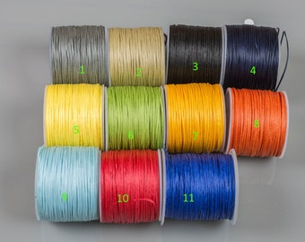 Wax Linen Cord 50 Yards---.7mm Thick- Perfect for knotting