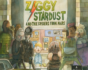 David Bowie - Ziggy Stardust Print Set (4 Prints)