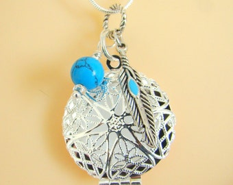 Dream Maker Essential Oil Diffuser Necklace, Aromatherapy Necklace