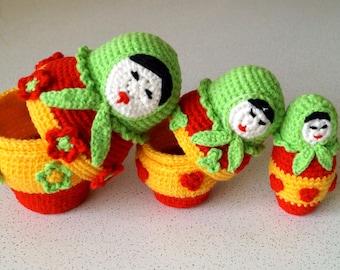 Russian Doll Amigurumi Crochet Pattern PDF, Babushka Pattern, Doll Pattern PDF, Matryoshka, Russian Toy, Crochet Toy, Amigurumi Toy PDF