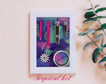 Tropical hot - complete Set: 13x18cm, manicure, care - frame frame # #giftideas #organization #originaldesign support/display