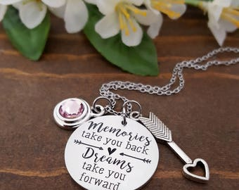 Graduation Gift For Her | Graduation Necklace | Graduation Gift | Inspiration Necklace | Arrow Necklace | Follow Dreams Necklace | Grad Gift