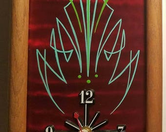 Pinstriped Clock