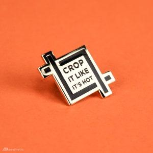 Crop It Enamel Lapel Pin
