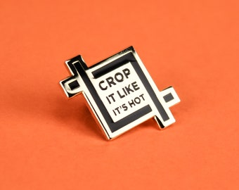 Crop It Enamel Lapel Pin