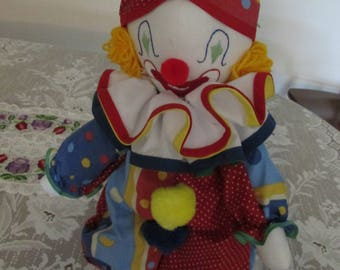 """Clown Doll made from Vintage Pattern 19"""" high"""