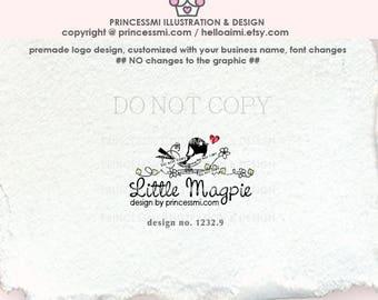 1232-9  bird logo, logo design, black bird, logo branding,  boutique logo, business branding, business logo design, watermark, craft logo