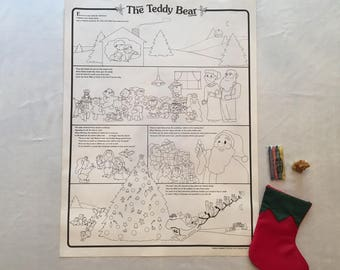 "The Tiniest Teddy Bear Coloring Story Poster 18""x24"""