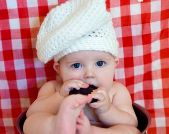 PDF Instant Download Baby Chef Hat and Diaper Cover PATTERN