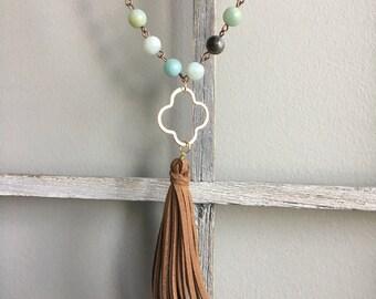 Clover Tassel Necklace