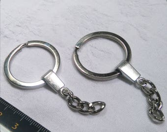 Silver metal key ring