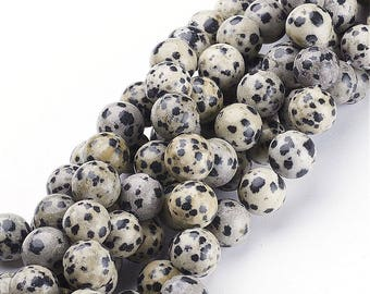 Round Natural Dalmatian Jasper Beads Strand 4∼10mm Dalmatian Stone Dalmatian Gemstone Dalmatian Wholesale Dalmatian Genuine Dalmatian Mala