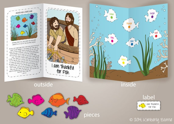 Lds Coloring Pages Pdf : I am thankful for fish file folder game and bonus coloring