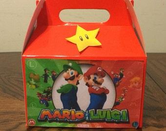 Mario and Luigi party favor boxes
