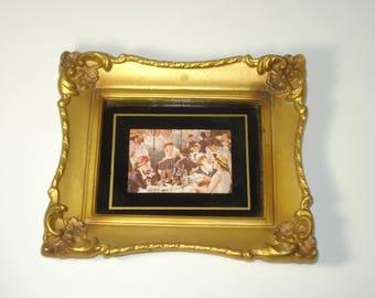 Vintage Gold Picture Frame  - Elaborate Retro Photograph Holder - 1960s USA
