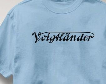 Voigtlander Camera T Shirt Vintage Logo Tee Shirt Mens Womens Ladies Youth Kids