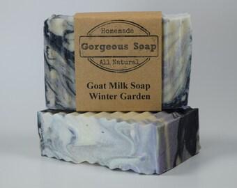 Winter Garden Goat Milk Soap - All Natural Soap, Handmade Soap, Homemade Soap, Handcrafted Soap