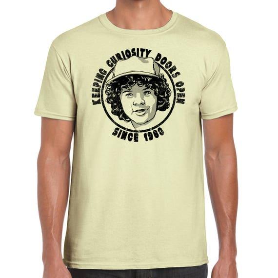 Like this item?  sc 1 st  Etsy & Keeping Curiosity Doors Open Stranger Things Horror T-Shirt