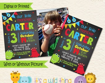 Monster Birthday Invitation for your Little Monster Bash • Boy Monster Invitation • Monster Party Theme • Preschool Birthday Ideas • 039A